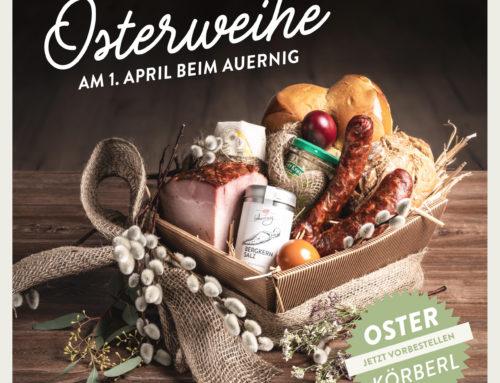 Geweihte Osterkörberl bei Auernig